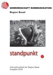 Informationsblatt der Region Basel Ausgabe 03/09 - syndicom ...