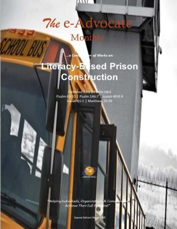 e-Advocate Monthly (Literacy-Based Prison Construction)