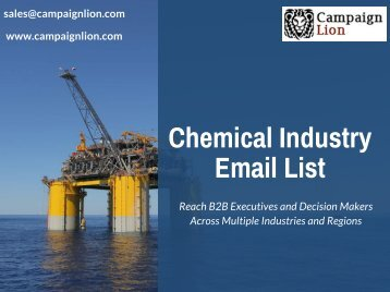 Chemical Industry Email List | CampaignLion