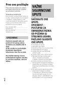 Sony HDR-CX450 - HDR-CX450 Istruzioni per l'uso Croato - Page 2