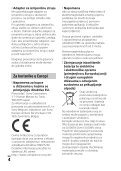 Sony HDR-CX450 - HDR-CX450 Istruzioni per l'uso Croato - Page 4