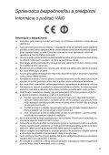 Sony VPCSE2F1E - VPCSE2F1E Documents de garantie Slovaque - Page 5