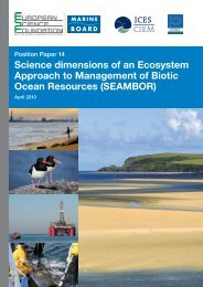 Science dimensions of an Ecosystem Approach to Management of ...