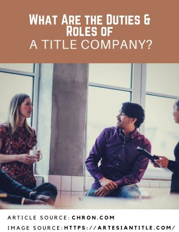 What Are the Duties & Roles of a Title Company?