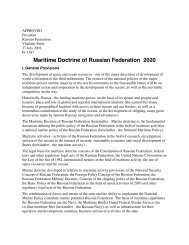 Maritime Doctrine of Russian Federation 2020 - OceanLaw.org