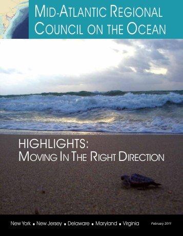 Highlights - Mid-Atlantic Regional Council on the Ocean