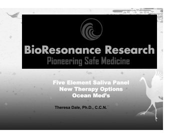 Five Element Saliva Panel New Therapy Options Ocean Med's