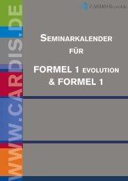 FORMEL 1 EVOLUTION & FORMEL 1 - CARDIS Reynolds