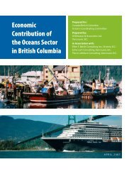 Economic Contribution of the Oceans Sector in British Columbia