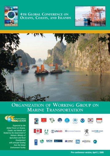 Organization of Working Group on Marine Transportation