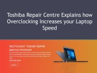 Toshiba Repair Centre Explains how Overclocking Increases Your Laptop Speed