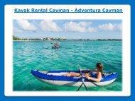 Kayak rental Grand Cayman