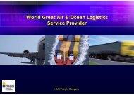 World Great Air & Ocean Logistics Service Provider