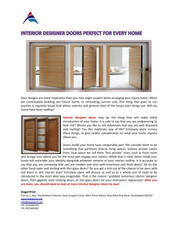 Interior Designer Doors Perfect for Every Home