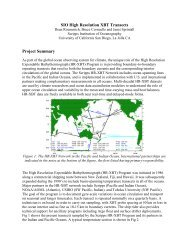 SIO High Resolution XBT Transects Project Summary - Office of ...