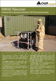 SMGD Raccoon Independent Spraying Module for CBRN Decontamination - OWR GmbH