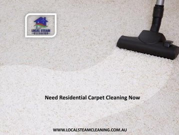 Need Residential Carpet Cleaning Now