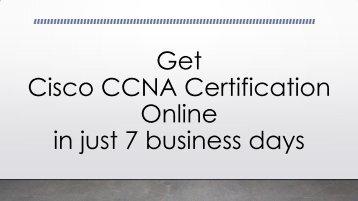 Get Cisco CCNA Certification Online - CertXpert