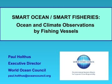Paul Holthus, Moderator (World Ocean Council) - Seafood Summit