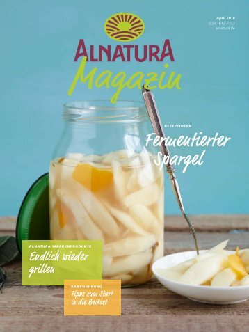Alnatura Magazin April 2018