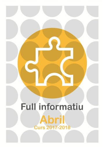FULL INFORMATIU ABRIL 2018