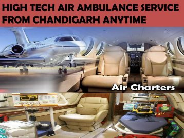 Quick Emergency Services by Sky Air Ambulance from Chandigarh at Low-Cost