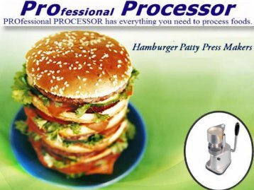 Pro Processor Hamburger Patty Press Makers | Shop Online