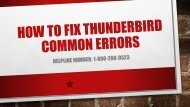 1-800-208-9523 Fix Thunderbird Common Errors