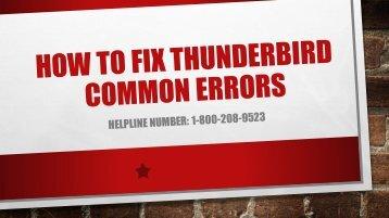 1-800-208-9523 Fix Thunderbird Common Errors