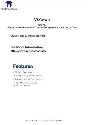 2V0-731 Exam Practice Software 2018