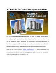 A Checklist for Your First Apartment Hunt