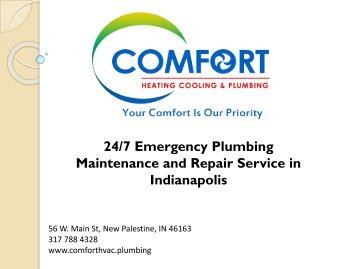 24/7 Emergency Plumbing Maintenance and Repair Service in Indianapolis