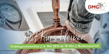 Einladung zum DMG-Frühlingsmissionsfest 2018