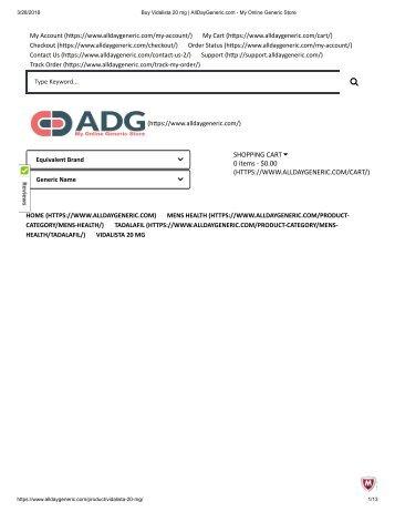 Buy Vidalista 20 mg _ AllDayGeneric.com - My Online Generic Store