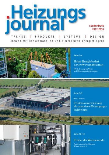 Heizungsjournal Sonderdruck 2017/2018 | YADOS Wärmenetztechnik
