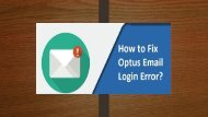 How to Fix Optus Email Login Error? 1-800-213-3740