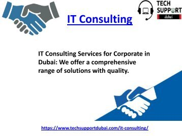 Reliable IT Consulting In Dubai 24/7 Available - 0502053269