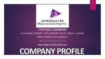 DJTECH316 COMPANY PROFILE