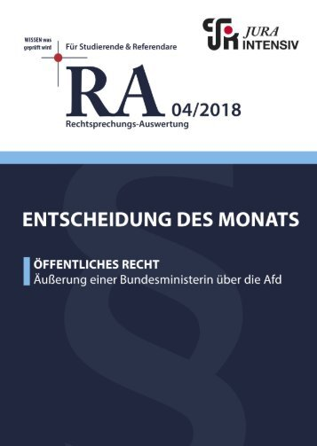 RA 04/2018 - Entscheidung des Monats