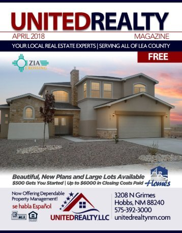 United Realty Magazine April 2018