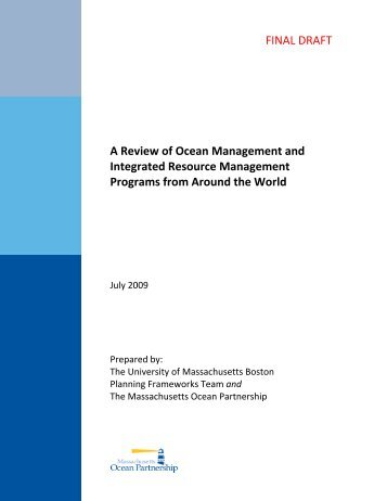 A Review of Ocean Management and Integrated ... - SeaPlan