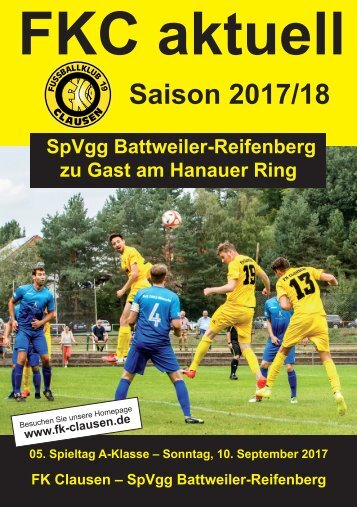 FKC Aktuell - 05. Spieltag - Saison 2017/2018