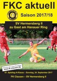 FKC Aktuell - 07. Spieltag - Saison 2017/2018