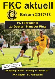 FKC Aktuell - 09. Spieltag - Saison 2017/2018