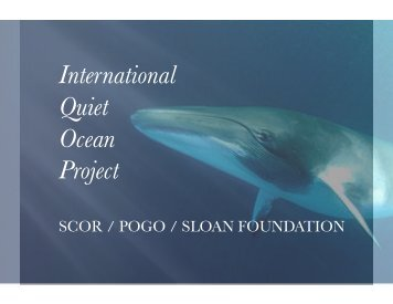 International Quiet Ocean Project - POGO