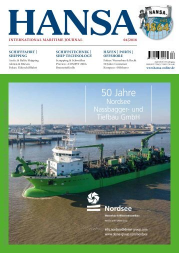 Hansa – International Maritime Journal, April 2018