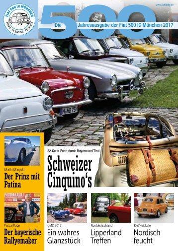 Fiat 500 IG München Jahresmagazin 2017