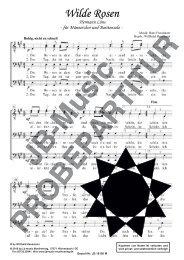 Wilde Rosen (für Männerchor TTBB u. Bariton-Solo)