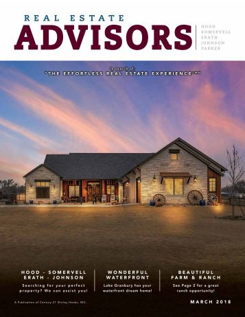 The Real Estate Advisors Magazine - March 2018