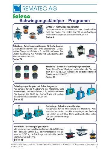 Schwingungsdämpfer (Feder- und Gummi/Metall ... - REMATEC AG